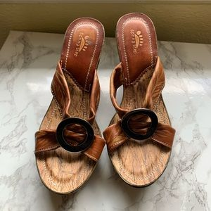 Spring step women leather sandals/ 40